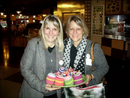 Lonna Calas and Ann Corbett share their handcrafted goodies
