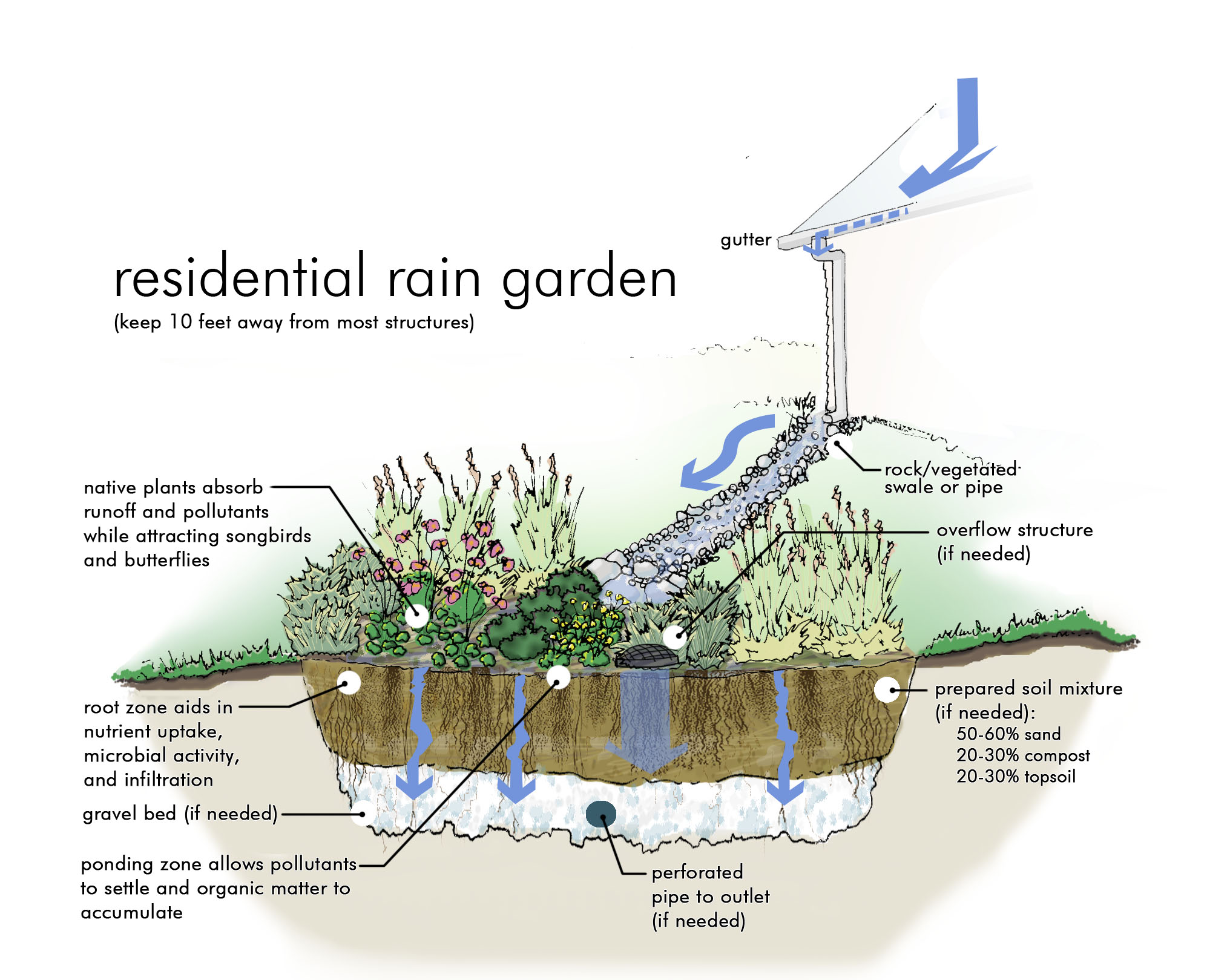 Countdown To The Secret Gardens Of Lake Forest Park Third Place Garden Schematic Pic Rain