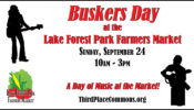 Buskers at the Market – A great day of music on Sept. 24th!
